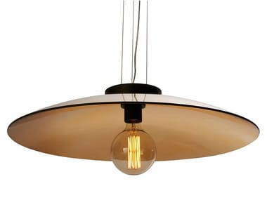 Handmade Thermoformed glass pendant lamp ZENITH | Pendant lamp