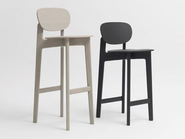 High wooden barstool ZENSO BAR