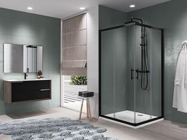 Box doccia angolare con porta scorrevole ZEPHYROS A