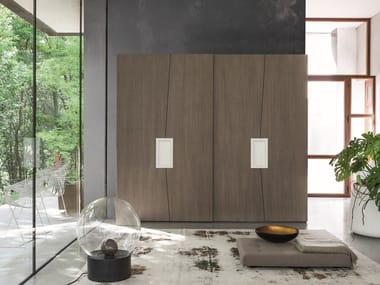 Wardrobe with sliding doors with drawers ZERO.16 | Wardrobe with sliding doors