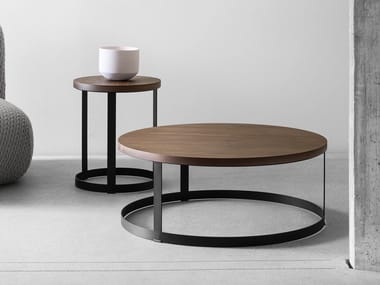 Round wooden coffee table ZERO