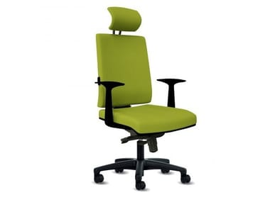 Swivel executive chair with 5-spoke base with casters ZERO7 ELEGANT
