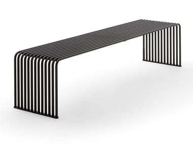 Panchina riciclabile in metallo senza schienale ZEROQUINDICI.015 | Panchina