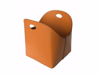 Tanned leather Log holder ZESTA