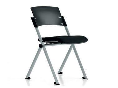 Stackable polypropylene training chair ZETA | Training chair