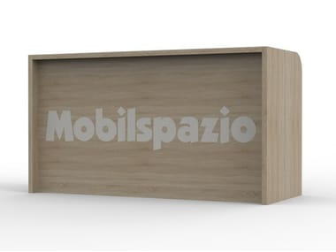 Wood veneer Reception desk ZEUS BR 01