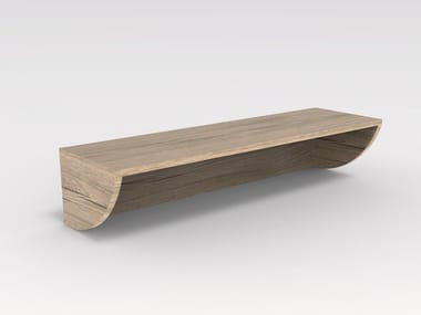 Wood veneer wall shelf ZEUS EH 01