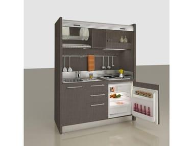 Mini cozinha invisível de madeira ZEUS K108