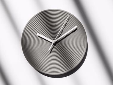 Wall-mounted concrete clock ZHONG | Clock