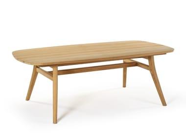 Tavolo allungabile rettangolare in teak ZIDIZ | Tavolo allungabile