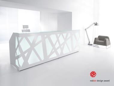 Balcão de receção modular com luzes integradas ZIG-ZAG