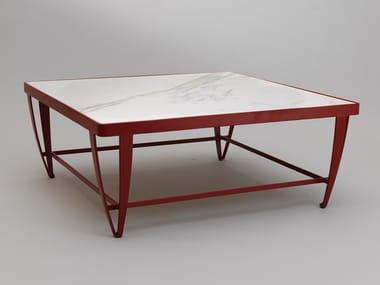 Table basse de jardin carrée ZIG ZAG   Table basse carrée