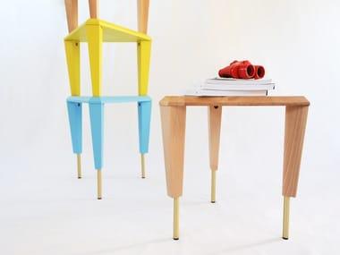 Wooden stool / coffee table ZIGGURAT
