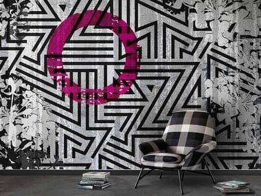 Papel de parede lavável panorâmico de material sintético ZIGGY