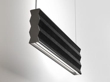 Sound absorbing suspending lamp ZIGZAG