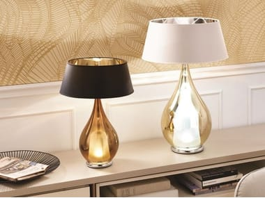 LED direct light blown glass bedside lamp ZOE | Bedside lamp