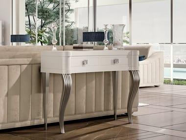 Mesa consolas retangular de madeira com gavetas ZOE