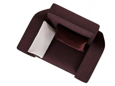 Fabric armchair with armrests ZOOM IN | Armchair