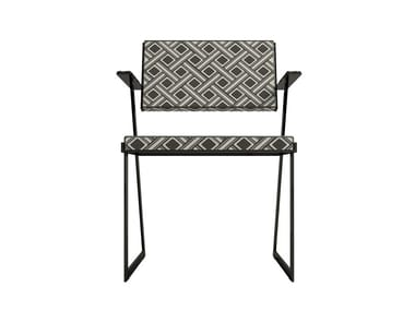 Fabric chair with armrests ZULU | Fabric chair