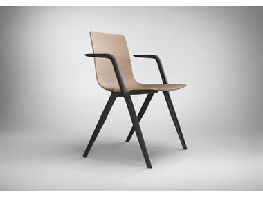 Stackable chair with armrests A-CHAIR | Chair with armrests