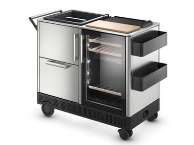 Steel garden bar cabinet / food trolley DOMETIC MOBAR 550
