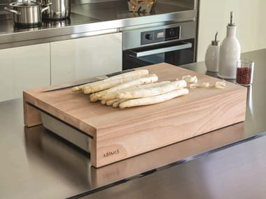 Rectangular beech chopping board A_FETTE