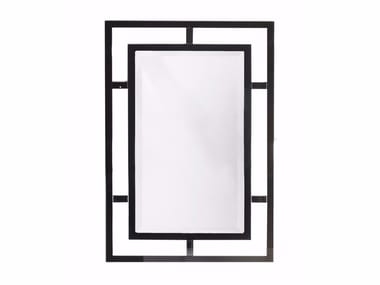 Rectangular wall-mounted framed mirror COTTON CLUB | Mirror
