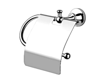 Metal toilet roll holder with cover ARTE | Toilet roll holder