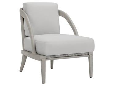 Upholstered JanusFiber® outdoor armchair with armrests ROCK GARDEN | Garden armchair