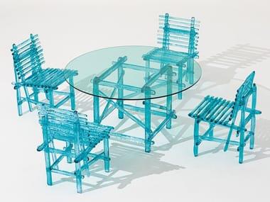 Tavolo da esterni rotondo in policarbonato A'MARE   Tavolo rotondo