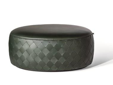 Oval leather pouf GRANT DE LUXE   Oval pouf
