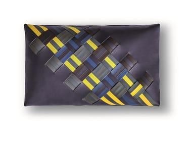 Rectangular leather cushion JOURNEY | Rectangular cushion