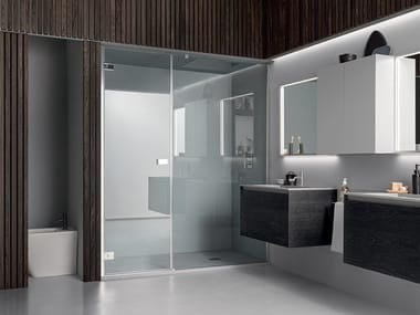 Niche shower enclosure with asymmetric wing door A180 | Niche shower cabin