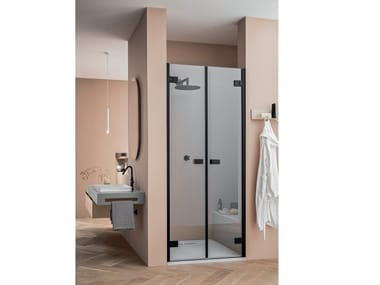 Niche shower enclosure with saloon doors A180 | Shower cabin