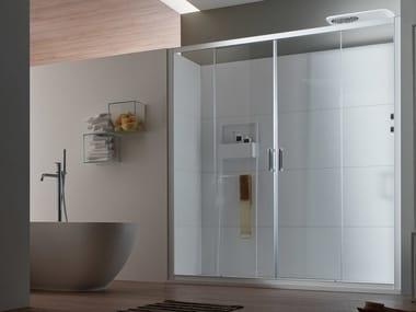 Box doccia a nicchia in vetro con porta scorrevole A6 | Box doccia a nicchia