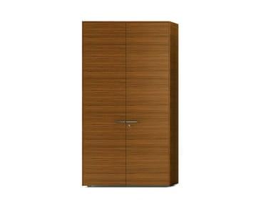 Mobile ufficio alto in legno impiallacciato con ante a battente ABA | Mobile ufficio con serratura