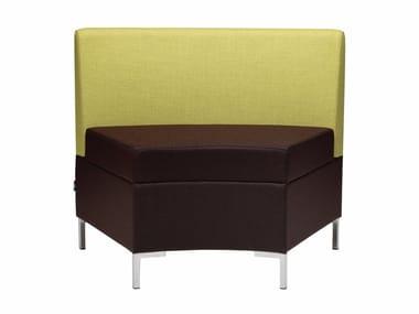 Sectional fabric armchair ABACO 759