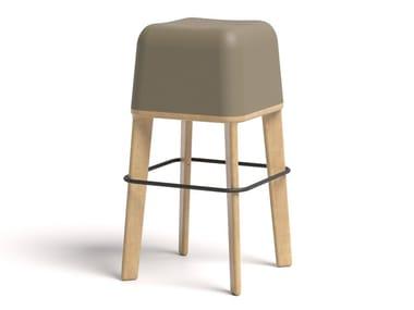 Ecological polyurethane high stool ABISKO 75 WOOD