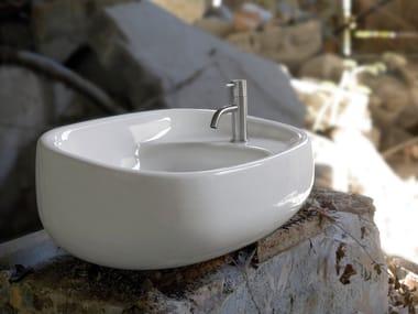 Lavabo ovale in ceramica ABOL170