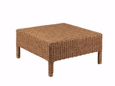 Tavolino basso da giardino quadrato in rattan ABONDO | Tavolino