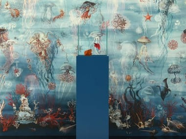Landscape Woven vinyl wallpaper JEAN PAUL GAULTIER - ABYSSAL