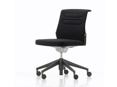 Sedia ufficio girevole in tessuto a 5 razze con ruote AC 5 STUDIO | Sedia ufficio con ruote