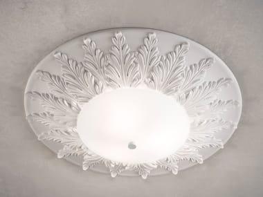 Incandescent metal ceiling light ACANTIA PL40