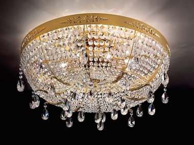 Incandescent metal ceiling light with crystals ACANTIA PL8/PL6/PL4