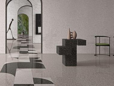 Pavimento/rivestimento in gres porcellanato effetto pietra per interni ACCADEMIA FULL BODY BELLINI