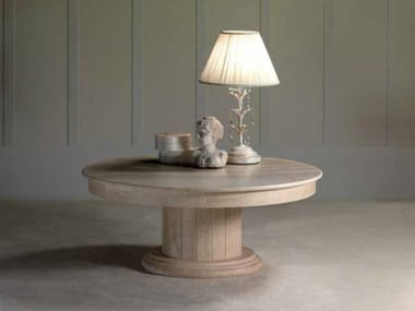 Round travertine coffee table ACHILLE | Travertine coffee table