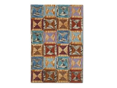Tappeto in lana-viscosa tuftato a mano, motivo patchwork ACKLINS