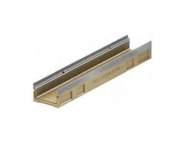 Canale di drenaggio in calcestruzzo polimerico ACO DRAIN® Multiline V150 basso spessore