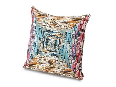 Cuscino in tessuto jacquard tinto in filo a patchwork ACONCAGUA PW