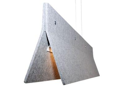 Sound absorbing pendant light ACOUSTIC LINE